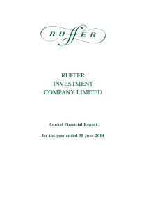 Ruffer Investment Co annual report 2014