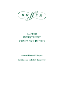 Ruffer Investment Co annual report 2015