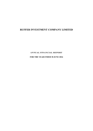 Ruffer Investment Co annual report 2016