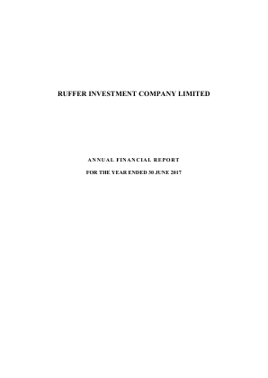 Ruffer Investment Co annual report 2017