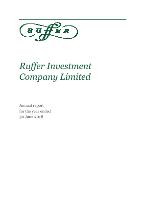 Ruffer Investment Co annual report 2018