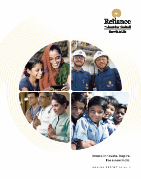Reliance Industries annual report 2015