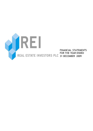 Real Estate Investors annual report 2009