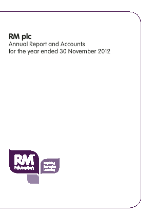 RM Plc annual report 2012
