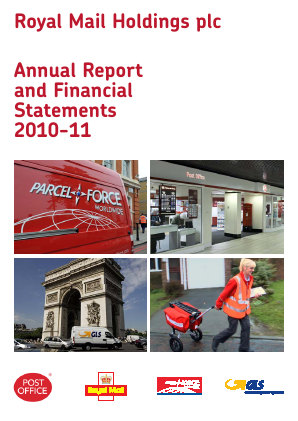 Royal Mail Plc annual report 2010