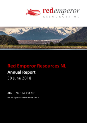 Red Emperor Resources NL annual report 2018