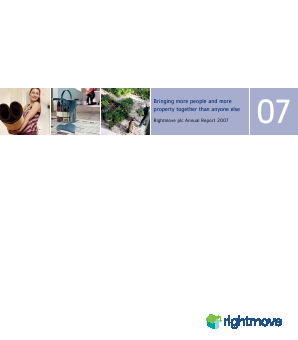Rightmove Plc annual report 2007
