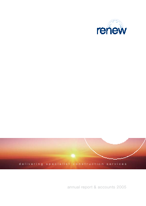 Renew Holdings annual report 2005