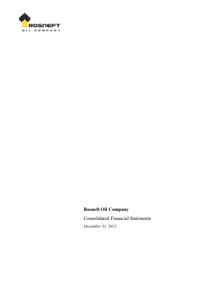 Rosneft OJSC annual report 2012