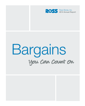 Ross Stores,  Inc. annual report 2014