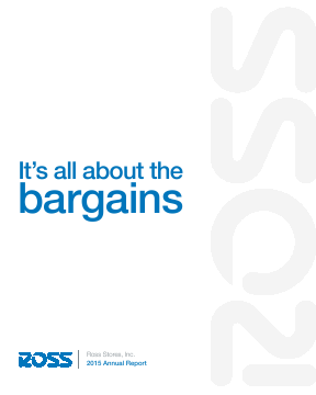 Ross Stores,  Inc. annual report 2015