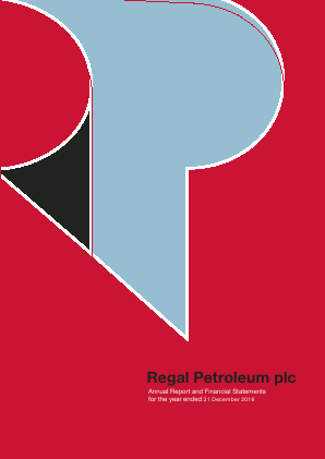 Regal Petroleum annual report 2016