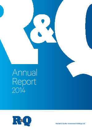 Randall & Quilter Invt Holdings annual report 2014