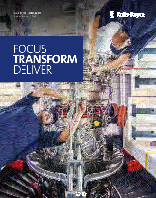 Rolls-royce Holdings Plc annual report 2016