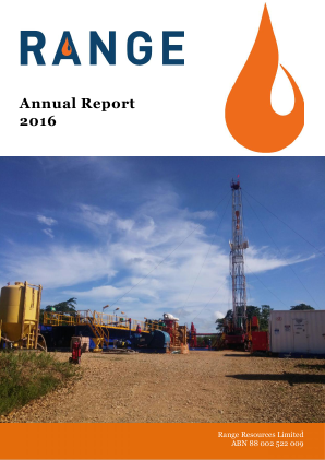 Range Resources annual report 2016