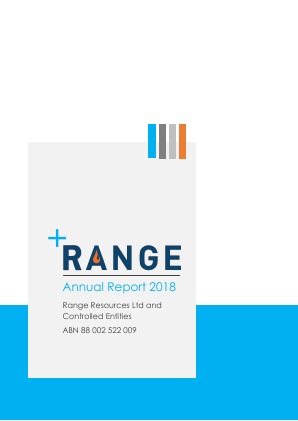 Range Resources annual report 2018