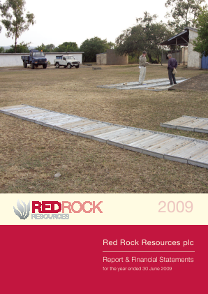 Red Rock Resources annual report 2009