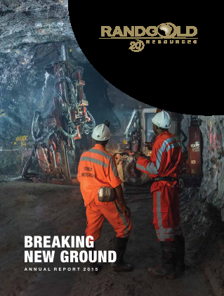 Randgold Resources annual report 2015
