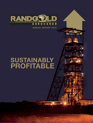 Randgold Resources annual report 2016