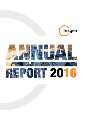 Resource Generation annual report 2016