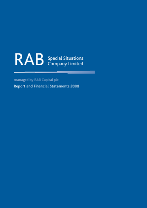 Rab Special Situations Co annual report 2008