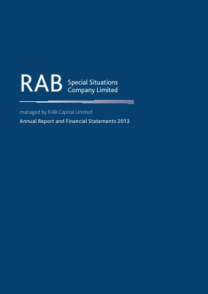 Rab Special Situations Co annual report 2013