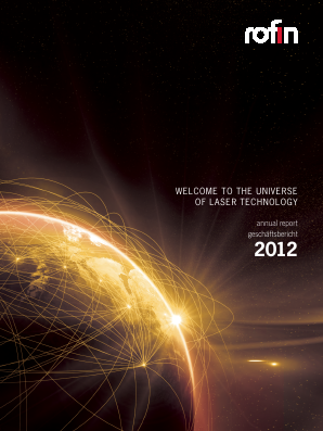 Rofin-Sinar Technologies annual report 2012
