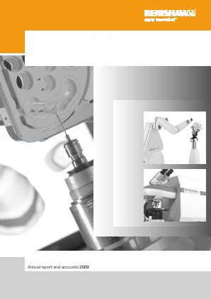 Renishaw Plc annual report 2009