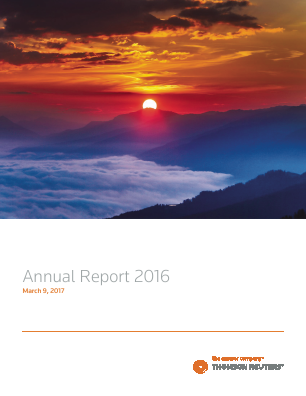 Thomson Reuters annual report 2016