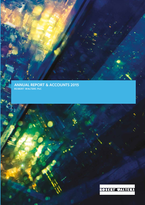 Robert Walters annual report 2015