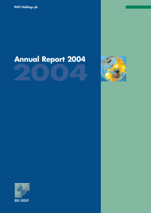 RWS Holdings annual report 2004