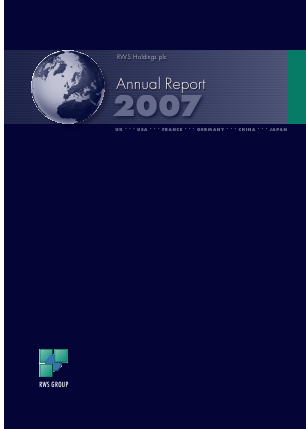 RWS Holdings annual report 2007
