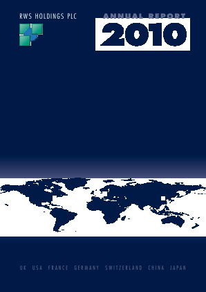 RWS Holdings annual report 2010
