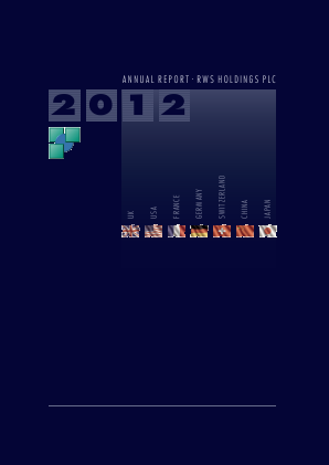 RWS Holdings annual report 2012