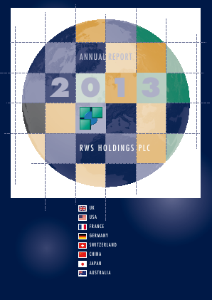 RWS Holdings annual report 2013