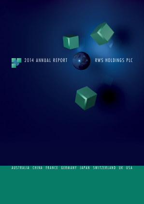 RWS Holdings annual report 2014