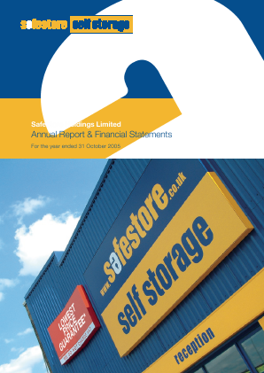 Safestore Holdings Plc annual report 2005