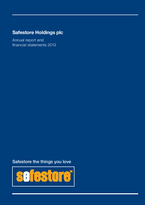 Safestore Holdings Plc annual report 2013