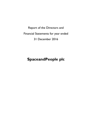 Spaceandpeople annual report 2016