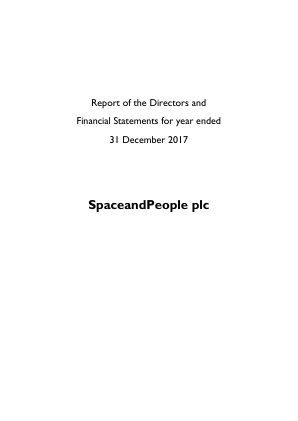 Spaceandpeople annual report 2017