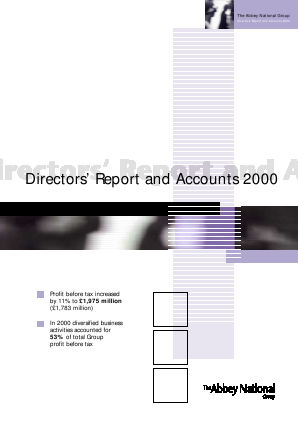 Santander UK Plc annual report 2000