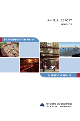 Steel Authority Of India annual report 2007