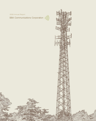 SBA Communications Corp. annual report 2008