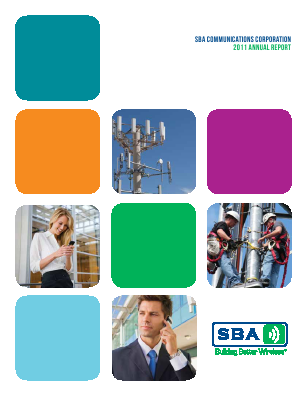 SBA Communications Corp. annual report 2011