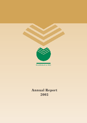Sberbank Of Russia annual report 2003