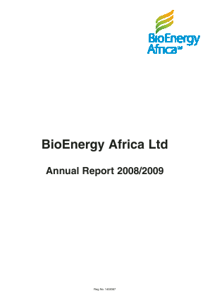 Consolidated Growth Holdings(Previously Sable Mining Africa) annual report 2009