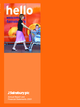 Sainsbury(J) annual report 2001