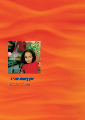 Sainsbury(J) annual report 2003