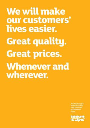 Sainsbury(J) annual report 2015