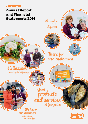 Sainsbury(J) annual report 2016